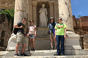 2017 WLC group at Ephesus Library