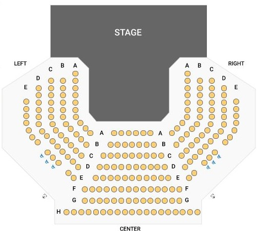 Raabe Theatre seating chart