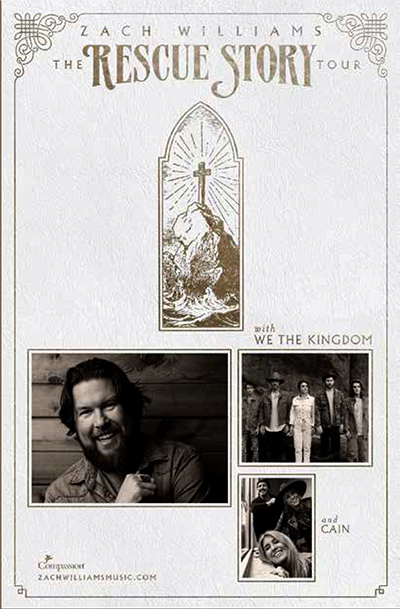 2020 Zach Williams concert flyer image
