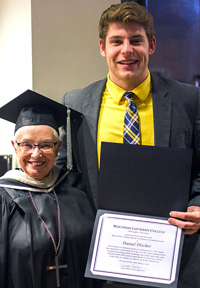 2018 Honors Convocation Heins and Plocher